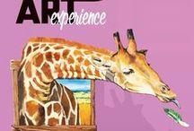 Art Experience MyZeil Shopping-Center: Kunst erleben / Kunst Installationen und verschiedene Kunstarten: Tape Art, String Art, 3D Art