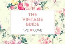 ❤️ The Vintage Bride ❤️ / Vintage wedding and bridal inspiration from classic 20th century weddings. #Vintage #Bride #Wedding #Style #retro #melbourne #hair #makeup