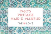 Vintage Hair & Makeup 1960's / Bouffant, Beehive, up dos and other big vintage hairstyles. 1960s vintage hair & makeup Inspirations, ideas, photos and tools to love.  #vintage #1960 #beehive #bouffant #hair #makeup #be…