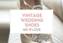 ❤️ Vintage Wedding Shoes We Love ❤️ / Sparkly, beautiful big-day worthy vintage inspired shoes for your wedding.