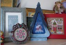 Новогодние домики - примеры / Christmas cross stitch, houses