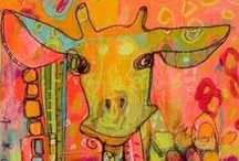 Non Traditional, Abstract, Layered +++ / Paintings that we love....all kinds of wacky art.