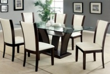 Glass Dining Tables / Modern, contemporary glass dining tables