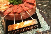 Fire Table Cooking / Hibachi style cooking at home with family & friends! Check out all of our fire table options and find a dealer near you at Firetainment.com!