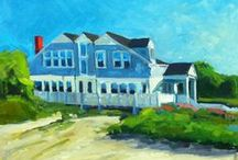 Cape Cod Paintings / Beautiful Cape Cod cottage paintings.