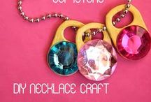 Crafts for Girls / All klinds of crafts for girls. Pink, princess, Disney princess, flowers, jewelry - anything girly.