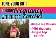 Pregnancy Legs & Butt Exercises & Workouts / Pregnancy exercises that are safe and effective for toning the legs and butt during pregnancy.  They help control weight gain and keep you fit during pregnancy. / by Michelle Marie Fit