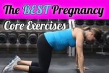 Pregnancy Core/Abs Exercises & Workouts / Pregnancy exercises and workouts to help keep the belly strong so that you don't end up with back pain during pregnancy and also to help prevent the postpartum pooch.  All these core exercises are safe to do during all trimesters of pregnancy. / by Michelle Marie Fit