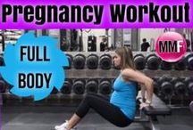 Pregnancy Full Body Workouts / Pregnancy Workouts that can be done at home with safe exercises that will help prevent excess weight gain and keep you strong so you don't have aches and pains throughout pregnancy and so that you can lose all your baby weight fast. / by Michelle Marie Fit