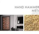 Hammered metal