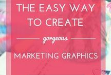Canva tips & design for social media / Learn how to use Canva to create beautiful graphics for your blog, business and social media.