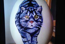 Beschilderde eieren/stenen