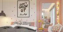 idee deco chambre ado fille / le thème de ce tableau est de la décoration de chambre d ado style instagramable couleur pastel mais aussi noir blanc gris ou encore des couleurs neutre ou bien vive .