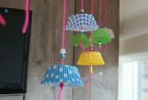 Garland and mobile / Craft, ideas, inspiration, DIY, garland, mobile, guirlandes, mobile, suspension, loisirs créatifs, do it yourself