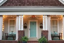 Doors & Porches / Doors and Porches. From front and back yards. French doors to Dutch doors and tiny stoops to grand covered porches. Deep southern style made for sweet tea, ranch and farmhouse style. I love a good porch. Amp up your curb appeal with these beautiful door and porch ideas! / by Fox Hollow Cottage