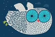 ILLUSTRATED OWLS / by Heather Iggulden✿
