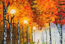 Palette knife / Palette knife paintings on canvas with best acrylics. / by Gratia Costin