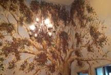 Painted Trees on Walls, etc