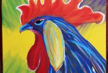 Painting Chickens & Roosters