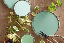 Mint green / Mint green at home!