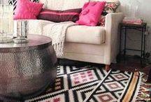 Like a magic carpet / Bohemian, ethnic, middle east decorative carpets