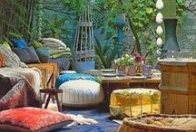 Deco Style Bohemian Exotica - Inspirational Board / Bohemian chic style - Boho chic - Colourful spaces
