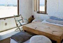 Deco Style - Coastal Style Inspirational Board / Mediterranean style; Coastal decor spaces. Get inspired near the sea!