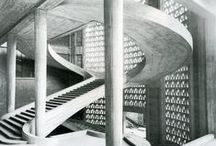 Architectural Elements - Stairs / Stairs connecting spaces; Geometric stairs; Storage stairs; Railings, Spiral stairs