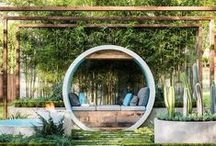 Terrace gardens / Welcome to my little green paradise. Spaces to relax & enjoy. Green is cool!
