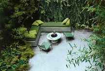 Gardens Inspirational Board / Wonderful gardens & pools. Places to relax. Green paradise.