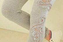Krajková vsadka DIY / applique jeans diy floral lace