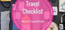 Travel Checklists / The best travel checklist for women | printable traveling checklists | vacation packing checklist | carry on checklists |  packing list generator