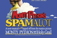 """Monty Python's Spamalot / Lovingly ripped off from the classic film comedy Monty Python and the Holy Grail, Spamalot is a new musical, with a book by Eric Idle and an entirely new score created by Eric Idle and John du Prez. Telling the tale of King Arthur and his knights of the Round Table, and featuring a bevy of beautiful show girls, not to mention cows, killer rabbits and French people, Monty Python's Spamalot """"raises silliness to an art form"""" (The Sunday Times)."""