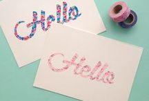 Washi Tape Crafts / See all of our Washi Tape varieties at http://bit.ly/18GVlKi.