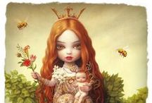 """♥ MaRK RYDeN ♥ / Mark Ryden (born January 20, 1963) is an American painter, part of the Lowbrow (or Pop Surrealist) art movement. He was dubbed """"the god-father of pop surrealism"""" by Interview Magazine. Ryden's aesthetic is developed from subtle amalgams of many sources: from Ingres, David and other French classicists to Little Golden Books. Ryden also draws his inspiration from anything that will evoke mystery; old toys, anatomical models, stuffed animals, skeletons and religious ephemera found in flea markets ♥ / by ♥ MiRaNa ♥"""
