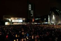 """Festival of Lights 2015 / """"Freedom, Equality, Brotherhood?"""" This was the slogan of the festival of lights 2015.  Every year on 9th October we remember the brave citizens who demonstrated peacefully in 1989 in Leipzig."""