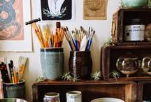 the eclectic home / creative decorating, the artist's home, colorful decor