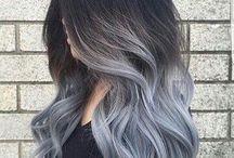 Cabelos coloridos e penteados