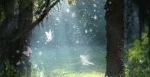 The Enchanted Garden. / Garden Fairy, Gnome and Elf Houses.