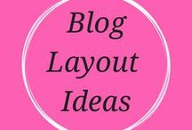 Blog Layout ideas / Inspiration and ideas for blog post and photography layouts
