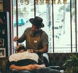 At the barbers