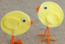 Easter Crafts for Kids / Easter crafts for children to make. Easter craft ideas for school or home. Including Easter crafts for Sunday School, Christian Easter crafts, printable Easter crafts, Easter cards for children to make.