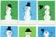 Winter Art & Crafts for Children / Ideas for children's art and craft in winter