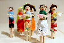 Peg Dolls / Traditional wooden dolly pegs used here to create peg dolls.
