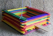 Art & Craft using Lolly Sticks / What can you make with lolly sticks? Wooden Lolly sticks are a cheap craft resource and can be used in many different ways. Lolly sticks are available in either plain, natural wood or coloured. Standard sized lolly sticks or larger versions.  Here we have some great ideas for crafts with lolly sticks.