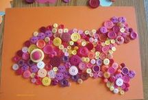 Children's Button Craft Ideas / Button crafts for children.  Art and crafts for children using buttons. Each craft can be adapted to the colours of buttons you have or chosen to represent a seasonal craft.