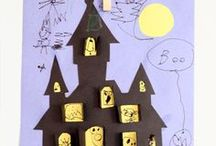Halloween Art, Crafts, Party Activities for Children  / Fun at Halloween for children. Activities for Halloween which children can be involved in the making of, including art, crafts, decorations and Halloween recipes. Spooky fun!