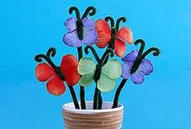 Pipe Cleaner Crafts / Crafts with Pipe Cleaners. Pipe cleaners for kids art and kids crafts pinning ideas to use that you can do with pipe cleaners.. or do you call them chenille stems or maybe fuzzy sticks?