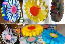 Paper Crafts for Children / Simple paper craft ideas for children including origami paper folding, tissue paper crafts, crepe paper, cardstock and paper doiley crafts / by Rainbow Creations