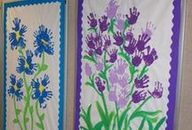 Murals, Classroom Display & Wall Art / Big art for children to make independently or as a group. Murals for home and school, classrooms, displays and events.